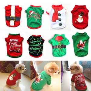 Pet Dog Clothes Christmas Costume Cute Cartoon Clothes For Small Dog Cloth Costume Dress Xmas apparel for Kitty Dogs