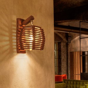 크리 에이 티브 빈티지 중국어 대나무 벽 램프 E27 벽 Sconce 가벼운 통로 Corridor Hotel Ktichen Dinging Reasure Cafe Light