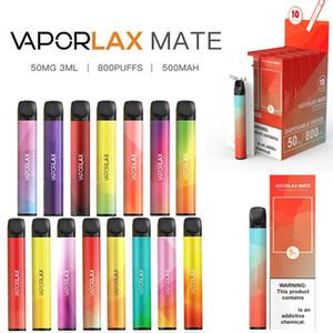 정품 Varoplax Mate 일회용 포드 장치 전자 담배 800 퍼프 500mAh 3ml 용량 배터리 vape 펜 키트