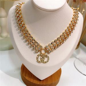 Luxus Schwere Industrie Dreischicht Diamant Kleiner Duft Full Diamant Anhänger Halskette Clawicle Kette Weibliche Temperament Vielseitige Hals