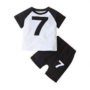 HIPAC 2PCS 2020 Kids Clothes Children Suit New Summer Item Girl Casual Suit Including T-shirt+Knee Length Pants Per Set