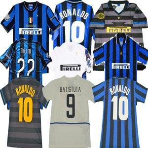 Top Qualität Retro Fussball Trikots Ronaldo Milito Baggio Crespo Vieri Sneijder Zanetti Vieira Batistuta Vintage Kit Classic Shirt