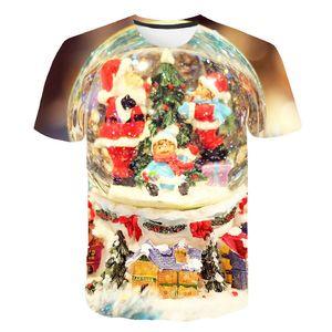 Cartoons Tshirt Christmas T-shirt Men Anime Shirt 3d Print Interesting Tshirts Punk Rock T-shirts Party Happy Mens Clothing 6XL Q1126