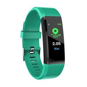 New ID115 Plus Smart Bracelet Fitness Tracker ID115HR Watch Heart Rate Watchband Smart Wristband For Android Cellphones Fitbit MI VS ID116