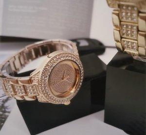Haute Qualité Ciel Diamond Dial Lady Steel Chain Chaîne Montre Diamant Crystal Lady Montre Haute Quartz Horloge Drop Expédition