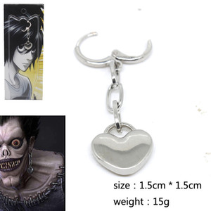 Death Note Drop Earrings Women Heart High Quality Cosplay Mens Cartoon Alloy Earring Fashion Sieraden Bijoux Pendientes Flecos