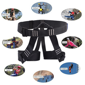 Mountaineering Climbing Harness Falling Protection Safety Belt Fire Rescue Caving Tree Rock Rappelling Outdoor Work Safe Belt Q1118