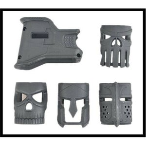 Improved MOJO Ergonomic Magwell Grip MWG with Finger Grooves Black   Darth Earth