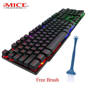 iMICE AK600 Gaming Keybaord with LED Backlit 104 Keycaps Waterproof Keybaord Wired USB Keyboard for Gaming Application1