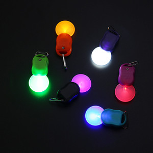 LED Keychain Protable Flashlight colorful Light LED Torch key Chains Money Detector Multi-function Keyring Ring Kid Toys