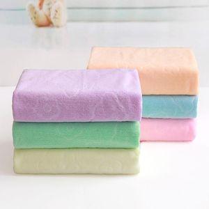 70*140 cm Factory direct soft polyester fiber water absorption hair dry bath face towel merchant super wholesale