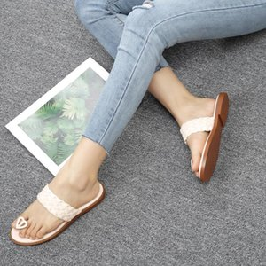 For New summer 2020 all-match woven women's shoes fashion casual flat-bottomed gentle fairy style sandals and slippers