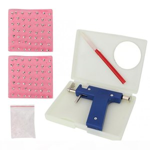Professional Body Piercing Tool Kit Ear Nose Body Navel Piercing Gun With Ears Studs Tool with 98 PCS ear studs Jewelry Tool b