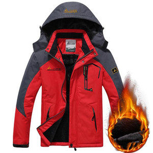 Outdoor Jacket Winter Thicken Warm Windproof Waterproof Coat Men Sports Mountaineering Outwear Thick Fleece Parkas 7XL Clothes