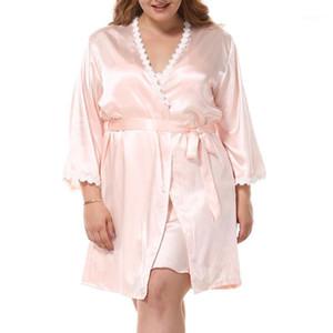 Sexy Lingerie Set Kadife Pijama Taklit Ipek Gecelik + Kıyafeti Setleri Ipek Yüksek Kalite Pijama Seksi Kadın Setleri Sevimli Cami Tops1