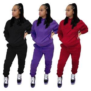 Плюс размер 3x женщин бег костюм костюм осень зима одежда трексуиты толстовки + брюки двух частей набор густые свита с длинным рукавом Sportswear 4255