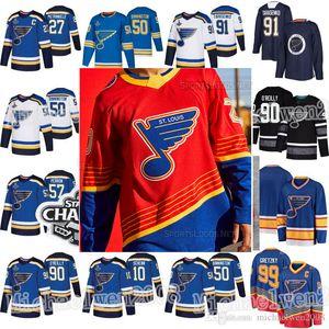 St. Louis Blues 2021 Reverse Retrô 90s Retro Binnington Ryan O'Reilly Vladimir Tarasenko Alex Pietrangelo Schenn Perron Jersey