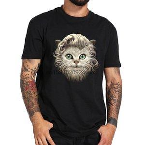 수염 난 고양이 새로운 망 탑 티셔츠 선물 티셔츠