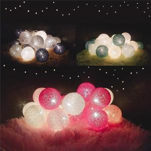 Corrente 3M 20 LED Corda de Algodão Bola de Algodão USB Luzes Fadas de Fadas de Feriado Bolas de Feriado Decoração Ambiente Ambiente Bulbo Cordas Lâmpada Ewe3624