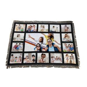 9 pêns cobertores sublimação cobertor em branco com borlas 9 15 20 grades esteira de transferência de calor impressão de sofá cobertores de lançamento cca12648