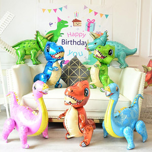 2020 1pc Large 4D Walking Dinosaur Foil Balloons Boys Animal Balloons Children Dinosaur Birthday Party Jurassic World Decor Balloon