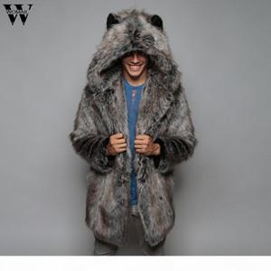 Womail Jacket Fashion Mens Warm Thick Coat Jacket Faux Fur Parka Outwear Cardigan Overcoat men's coat 20190817