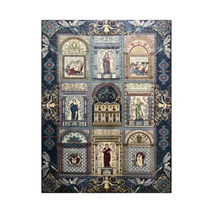 57x84cm Classical Fairy Tales of Greece Design Tapestry Wall Hanging Dorm Decor Silk Rug