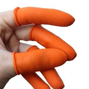 50 pz / lotto Addensare Guanti del dito Lattice Guanti Pellicola Finger Protezione antiscivolo Anti-slip Cotture di punta Protezione per il lavoro