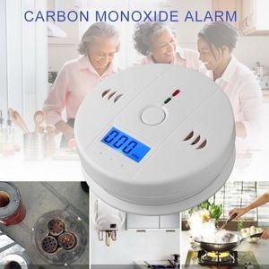 Détecteur de capteur de CO2 sensible au CO2 sans fil CO monoxyde de carbone empoisonnement Smoke Gaz capteur AVERTISSEMENT Détecteur de détecteur LCD Indicateur