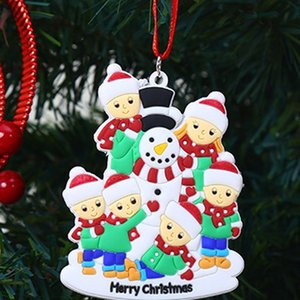 Christmas Ornament DIY Name 2020 Quarantine Christmas Birthday Party Pandemic Social Distancing Christmas Tree snowman pendant