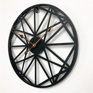 45Cm European Retro Roman Wall Clock Black Metal Wrought Iron Mute Wall Clock Modern Design Hanging Watch Home Office Bar Decor