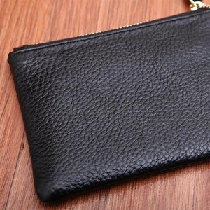 Mini Wallet Pocket Wallets Women Leather Solid Color Simply Coin Key Wallet Leather Card Coin Storage Purse Durable Unisex Wallet GWD3191