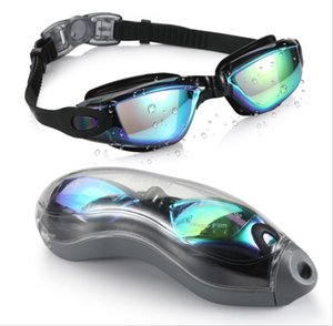 New silicone electroplated swimming goggles, diving goggles, swimming goggles and anti-fog adult goggles