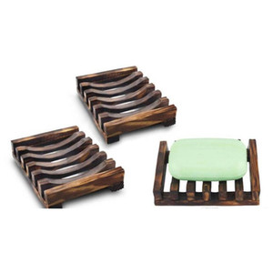 natural wooden bamboo soap dish tray holder storage soap rack plate box container for bath shower plate bathroom 2 colors