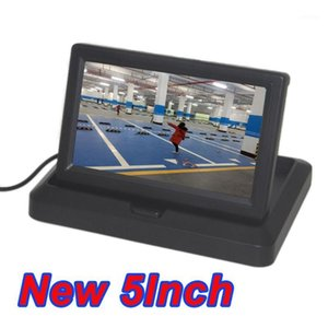 "Car 5 Inch Folding New Digital Screen 2 Channel Video Input DVD Player DC 12 24V Monitor 5.0"" Color ccd CCD Car Display Monitor1"
