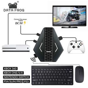 Datenfrosch PUBG Mobiler kabelgebundener Gaming-Tastatur-Maus-Konverter für PS4 Xbox One / 360 Nintendo-Schalter PS3-Konsole / Android Systerm Q0104