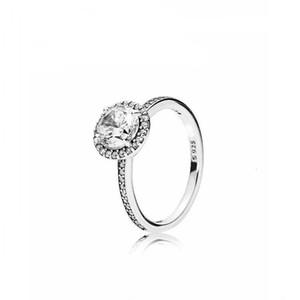 925 فضة الأزياء والمجوهرات خواتم الماس خاتم الخطوبة الزفاف للنساء