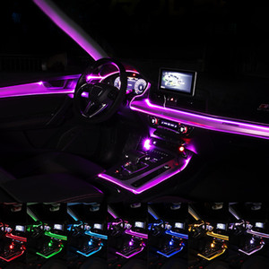 Flexible Car Interior Atmosphere Light Strip EL Wire APP Sound Control RGB Mode Colorful Ambient Light Decorative Lamp Strips