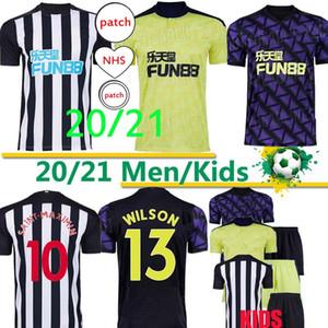 20 21 Tyne Magpies Yeni Futbol Formaları Wilson Ritchie Birleşik Futbol Gömlek Erkekler Kids Üniformaları 2020 2021 Tayland Üst