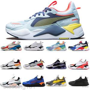 2021 RS-X الرجال النساء أحذية بيضاء أزرق مشرق الخوخ تعيد اللعب رمادي الرياضة أحذية رياضية رجل المدربين في الهواء الطلق عارضة الأحذية مكتنزة BT11