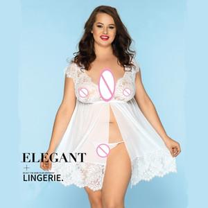 Nachthemd Spitze Frauen Anzug Übergroße Hosenturm Sexy Dessous Für Paar Spiel Durchsichten Kostüm Erwachsene Erotische Tuch Sex Spielzeug