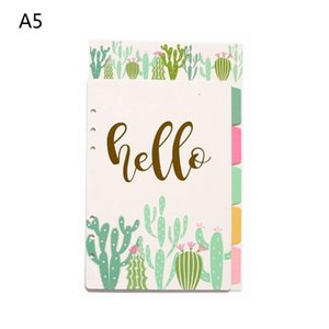 1Set A5 A6 Loose Leaf Notebook Divider 6 Hole Index Separator Binder Stationery Y5GE