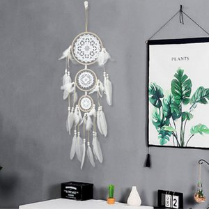 Hand-Woven Tapestry Net Indian Dreamcatcher Home  Hotel Wall Decoration Tapestry Multiple Styles Select Rope Feather Weaving DHE3398