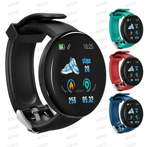 D18 Smart Watch Bracelet Waterproof Heart Rate Blood Pressure Color Screen Sport Tracker Smart WristBand Smartband Pedometer for IOS Android