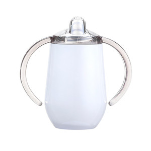 10oz sippy cup stainless steel tumbler with double handle egg cups Vacuum insulation baby water bottle coffee mug A05