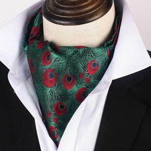 2020 Mens Ascot Cravat Tie Paisley 결혼식 정식 Ascot Neckerchief 신사 폴리 에스터 목 넥타이 선물 사용자 정의 로고