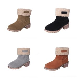 WjZ Luxury dener Designer MotorcycleBoots Women Rivets Red Bottom Shors Square HeelKnight woman Fashion ankle boot Cow Ankle