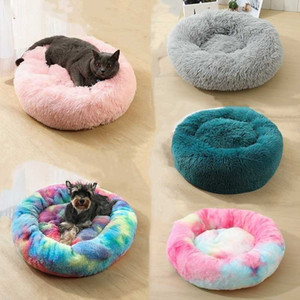 Plush Long Dounts Beds Calming Bed Pet Kennel Super Soft Fluffy Comfortable for Large Dog Cat House Velvet Mats Sofa For Chihuahua Basket