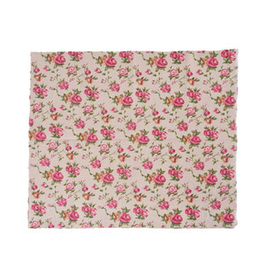 Hoomall 1PC 97*50cm Rose Natural Linen Cotton Fabric Quilting Patchwork DIY Sewing Fabric Textile Sewing Cloth