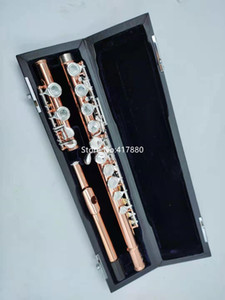 Muramatsu New Gold Lacquer Flute 16 Keys Closed Holes Split E Flute High Quality Musical Instrument With Case
